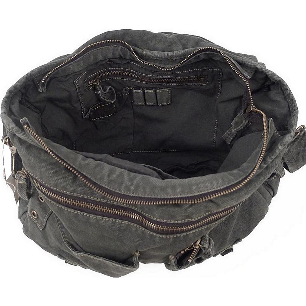 Vagabond Traveler Canvas Shoulder Bag Military Green - Vagabond Traveler Messenger Bags