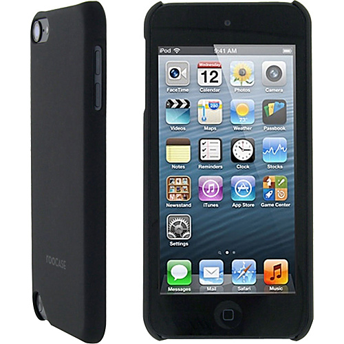 rooCASE Ultra Slim Matte Shell Case for iPod Touch 5 Black - rooCASE Personal Electronic Cases