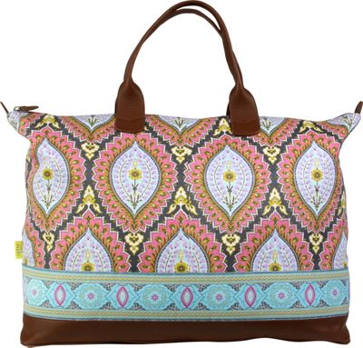 "Amy Butler for Kalencom Meris 27"" Duffel Bag with Ribbon Imperial Paisley Cosmos - Amy Butler for Kalencom Luggage Totes and Satchels"
