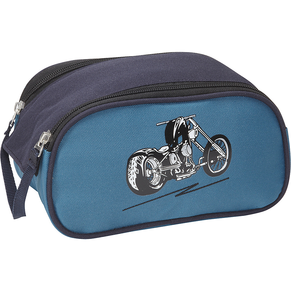 Obersee Kids Toiletry and Accessory Bag - Blue Motorcycle Blue Motorcycle - Obersee Toiletry Kits