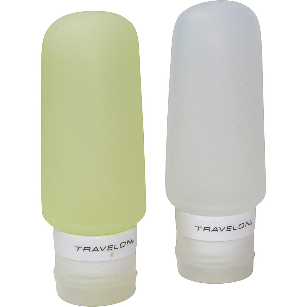 Travelon Smart Tubes Set of 2 3oz. Green/Clear - Travelon Travel Organizers - Travel Accessories, Travel Organizers