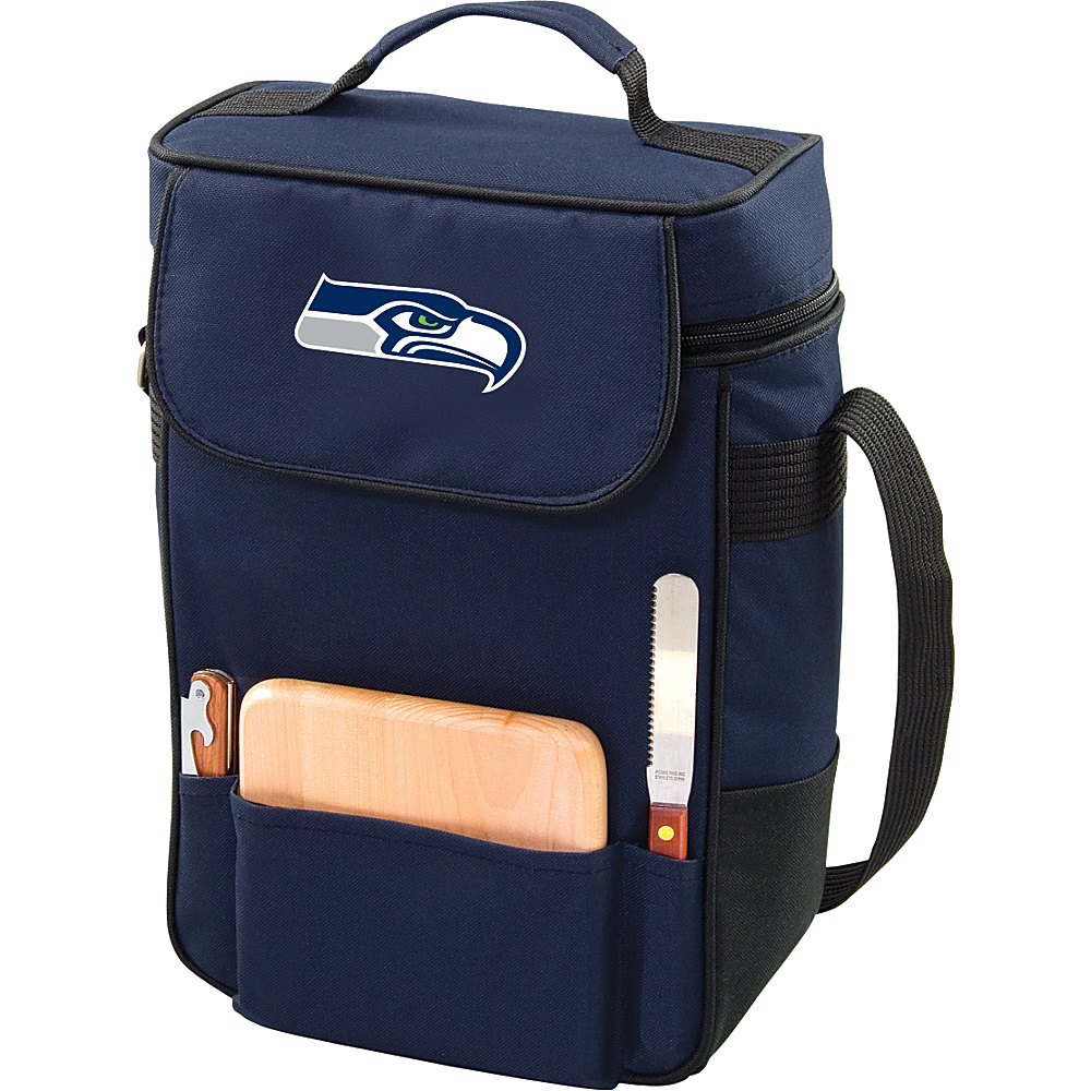 Picnic Time Seattle Seahawks Duet Wine & Cheese Tote Seattle Seahawks Navy - Picnic Time Outdoor Coolers - Outdoor, Outdoor Coolers