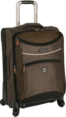 Timberland Rt 4 20 inch Spinner Carry on Cocoa - Timberland Softside Carry-On