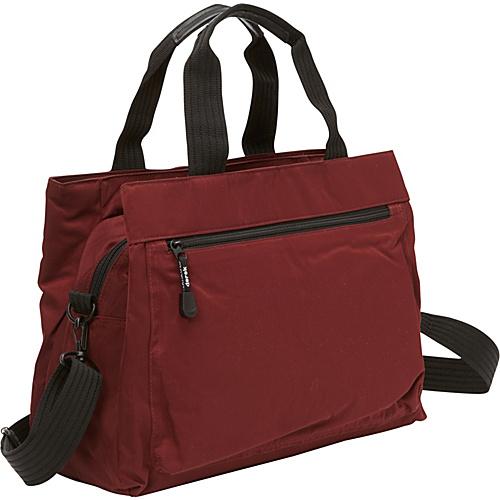 Derek Alexander Top Zip Tote with Multi-Compartment BURG - Derek Alexander Fabric Handbags
