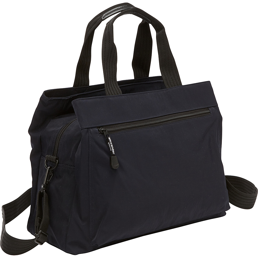 Derek Alexander Top Zip Tote with Multi-Compartment Navy - Derek Alexander Fabric Handbags