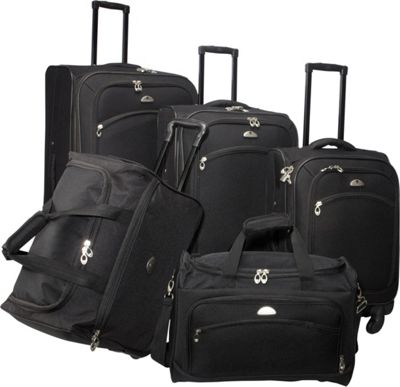 American Flyer South West Collection 5 Piece Luggage Set Black - American Flyer Luggage Sets