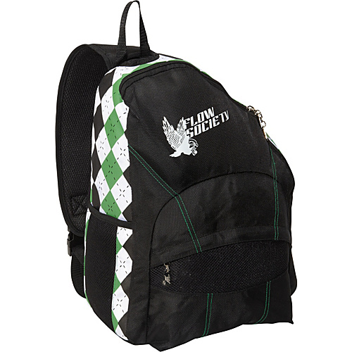 Flow Society Sling Argyle Backpack BLACK/GREEN/WHITE - Flow Society Slings