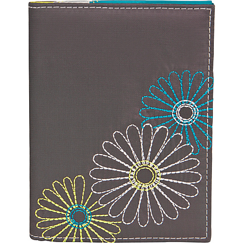 Travelon Safe ID Daisy Passport Case Pewter - Travelon Travel Wallets