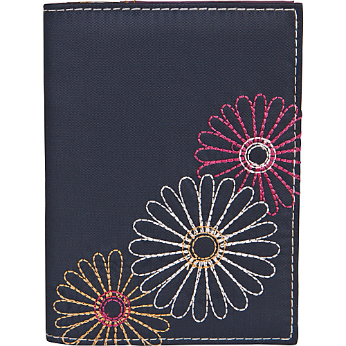 Travelon Safe ID Daisy Passport Case Navy - Travelon Travel Wallets