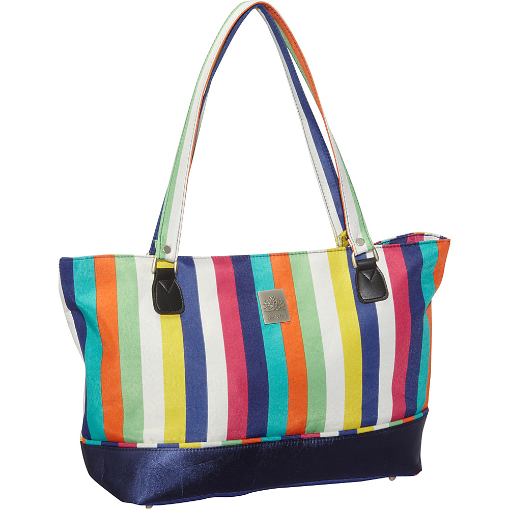 Jenni Chan Multi Stripes Laptop Computer Work Tote Multi Stripe - Jenni Chan Women's Business Bags