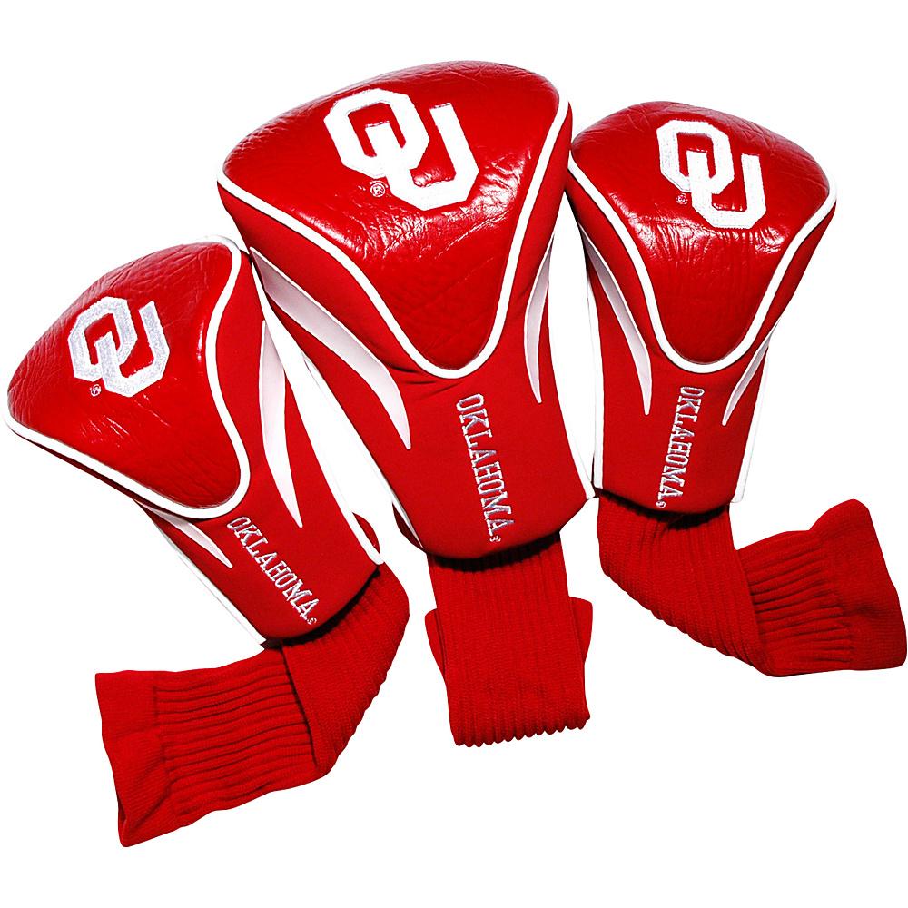 Team Golf USA University of Oklahoma Sooners 3 Pack Contour Headcover Team Color - Team Golf USA Golf Bags