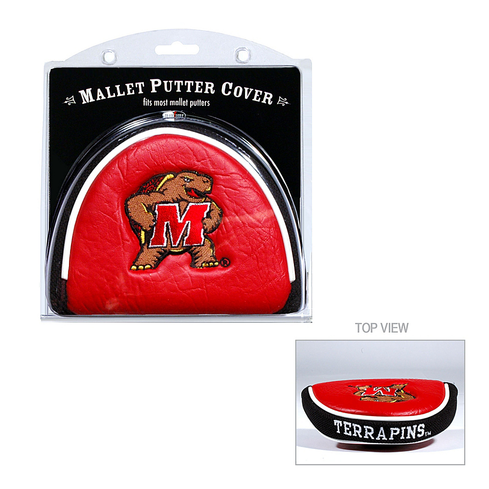 Team Golf USA University of Maryland Terrapins Mallet Putter Cover Team Color - Team Golf USA Golf Bags