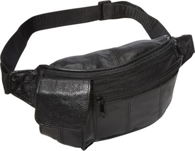 Amerileather Leather Waist Pouch w/ Cellphone Holder Blac...