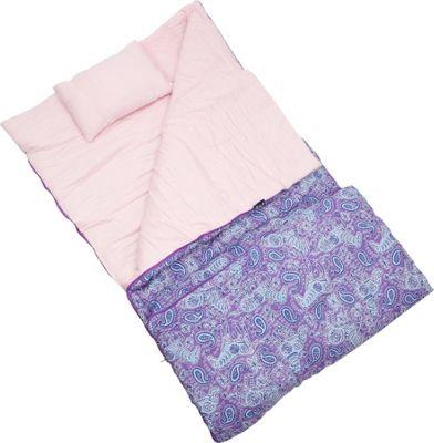 Wildkin Watercolor Ponies Purple Original Sleeping Bag Watercolor Ponies Purple - Wildkin Travel Pillows & Blankets
