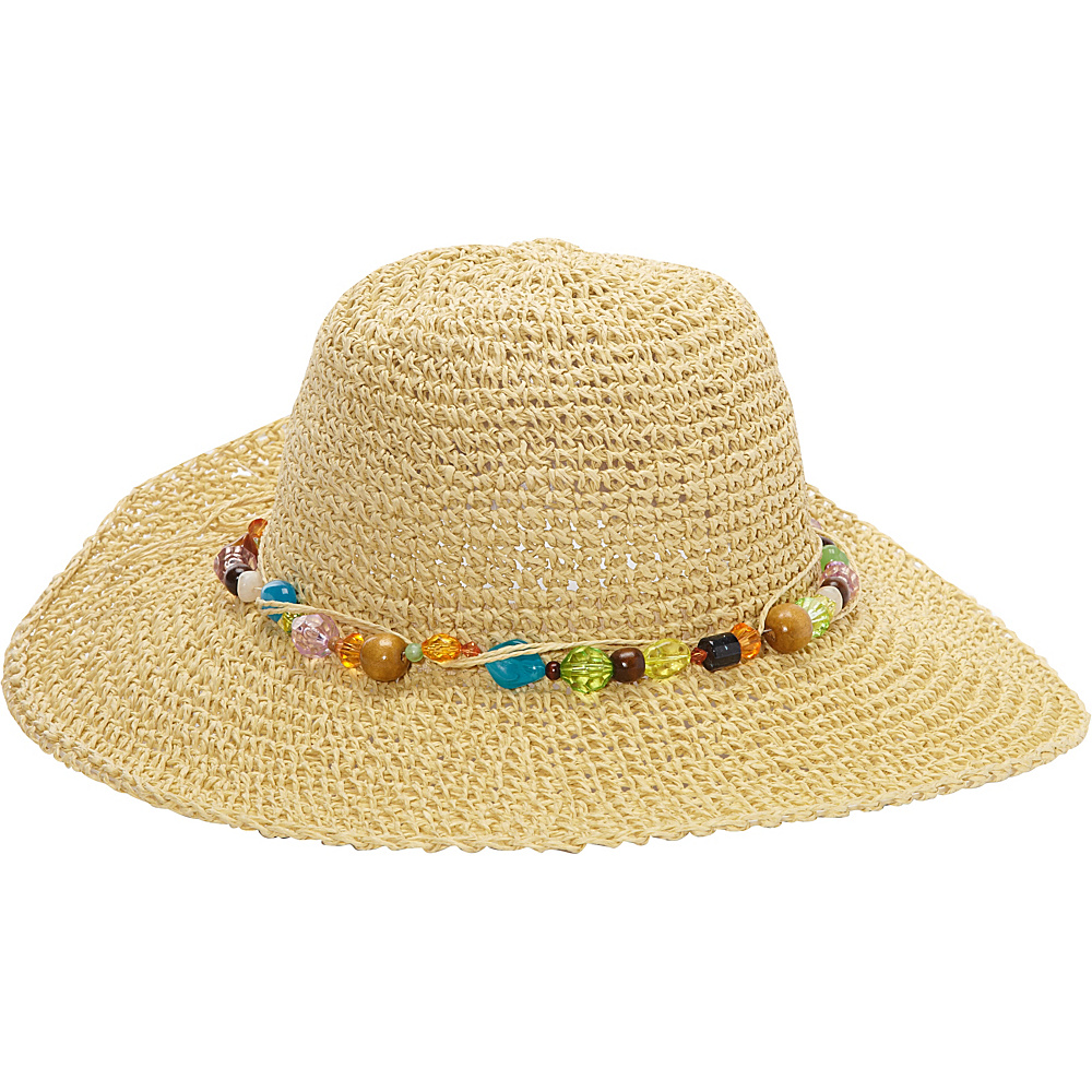 Sun N Sand Crystal Bay One Size - Natural - Sun N Sand Hats/Gloves/Scarves - Fashion Accessories, Hats/Gloves/Scarves