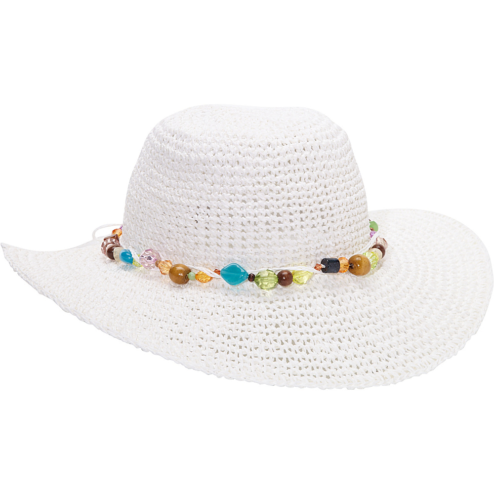 Sun N Sand Crystal Bay One Size - White - Sun N Sand Hats/Gloves/Scarves - Fashion Accessories, Hats/Gloves/Scarves