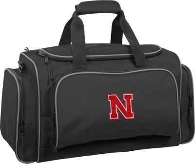 Wally Bags University of Nebraska Cornhuskers 21 inch Collegiate Duffel Black - Wally Bags Rolling Duffels