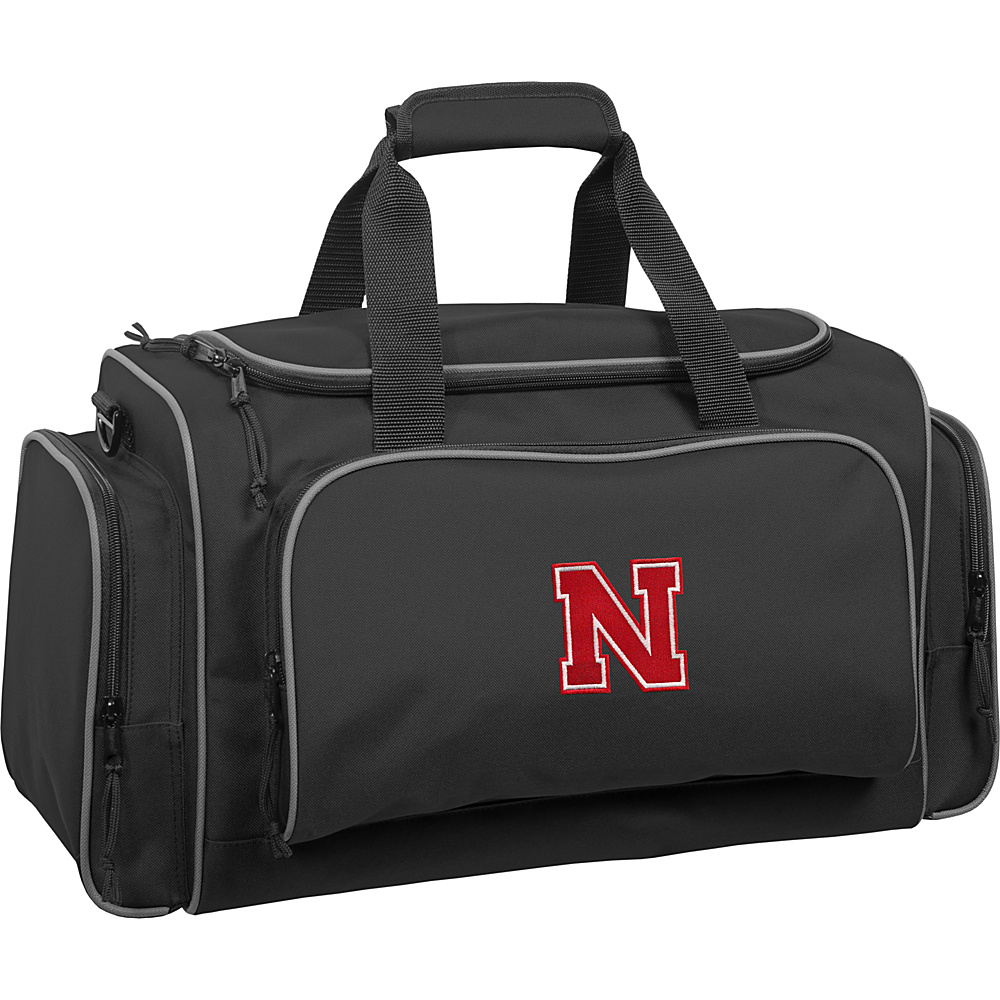 Wally Bags University of Nebraska Cornhuskers 21 Collegiate Duffel Black Wally Bags Rolling Duffels