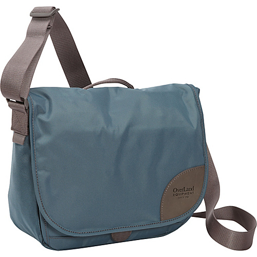 Overland Equipment Maisie Denim/Cross Hatch Print (44-44-T1) - Overland Equipment Women's Messenger Bags
