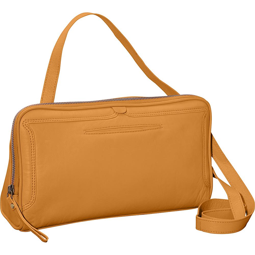 Latico Leathers Kevan Crossbody Gold - Latico Leathers Leather Handbags - Handbags, Leather Handbags