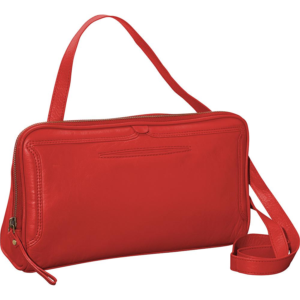 Latico Leathers Kevan Crossbody Poppy Latico Leathers Leather Handbags
