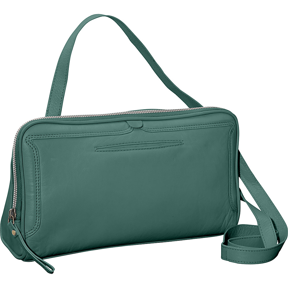 Latico Leathers Kevan Crossbody Sea Green - Latico Leathers Leather Handbags - Handbags, Leather Handbags