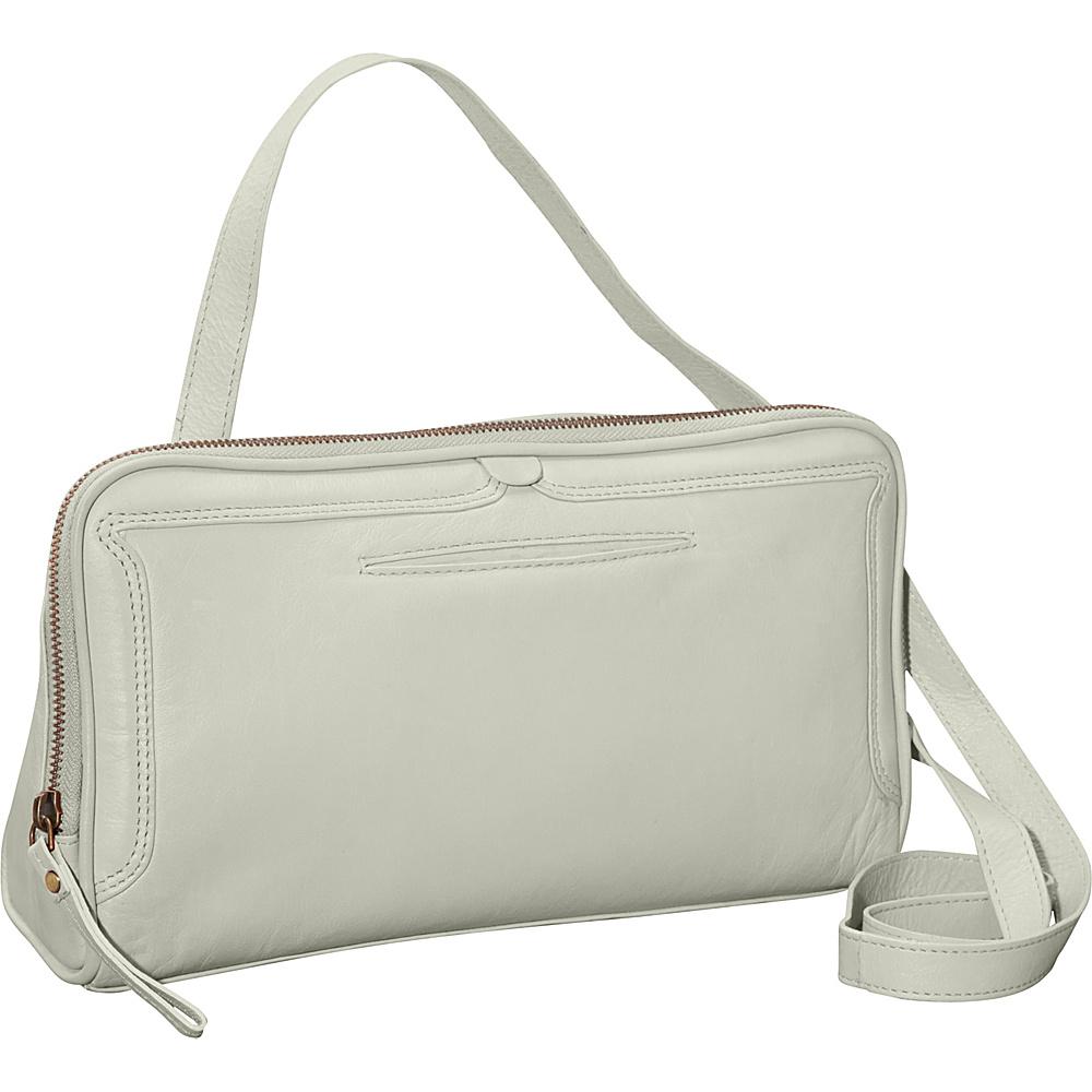 Latico Leathers Kevan Crossbody Stone Latico Leathers Leather Handbags