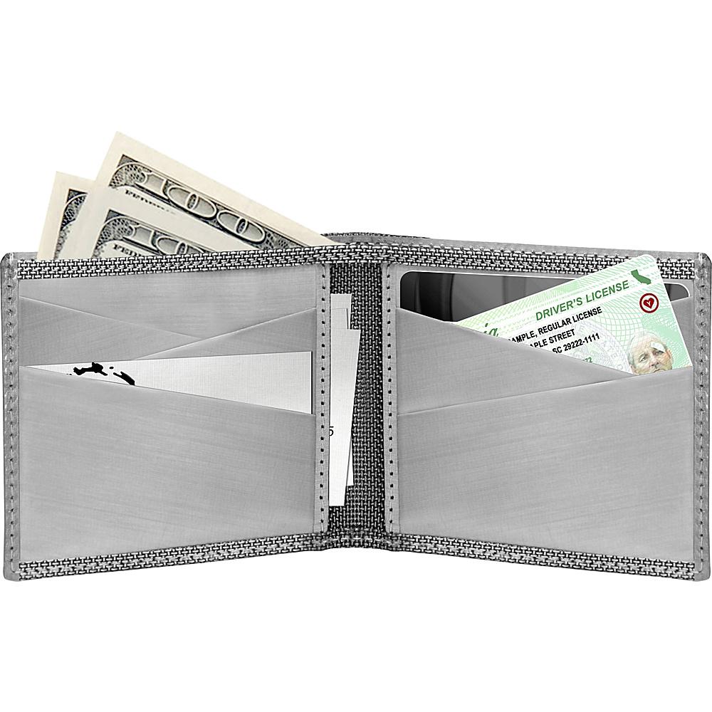 Stewart Stand Bill Fold Stainless Steel Wallet - RFID Silver/Grey Mesh - Stewart Stand Men's Wallets