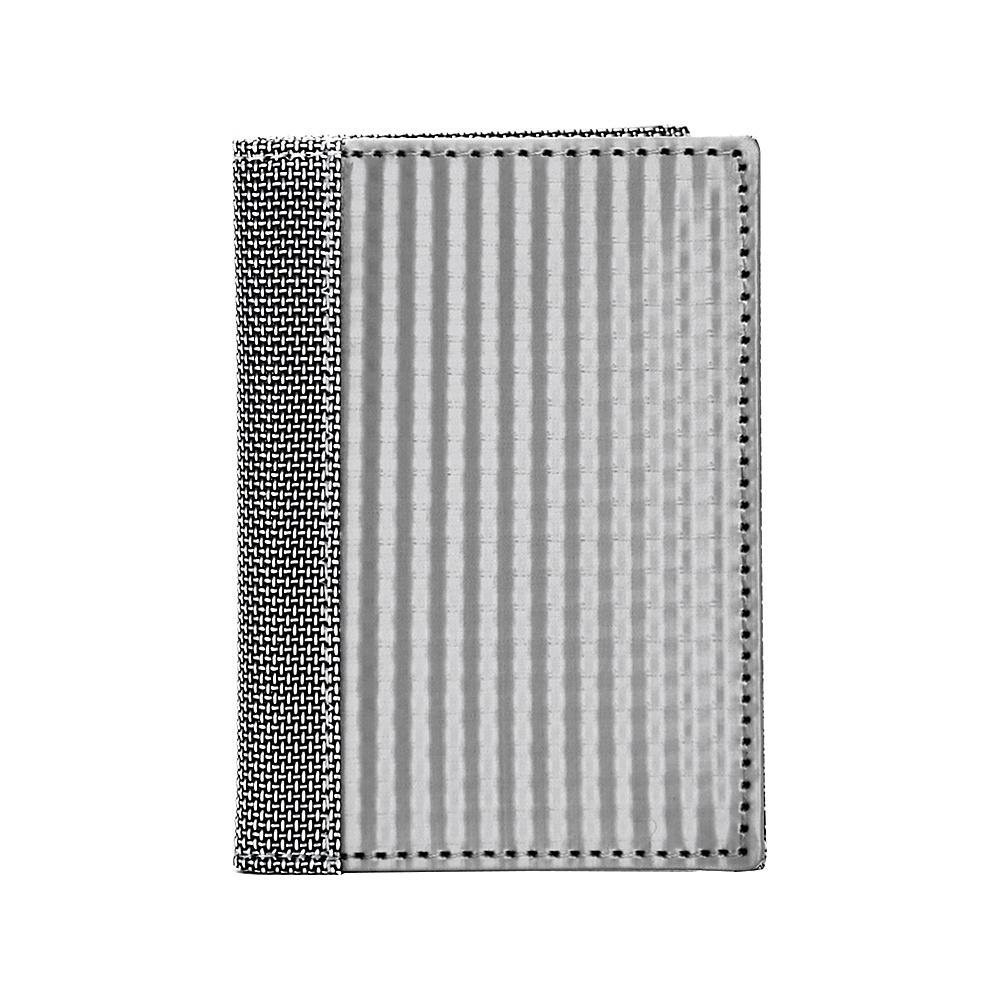 Stewart Stand Checkered Texture Driving Stainless Steel Wallet RFID Silver Grey Mesh Stewart Stand Men s Wallets