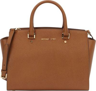 MICHAEL Michael Kors Selma Large Top Zip Satchel Luggage - MICHAEL Michael Kors Designer Handbags