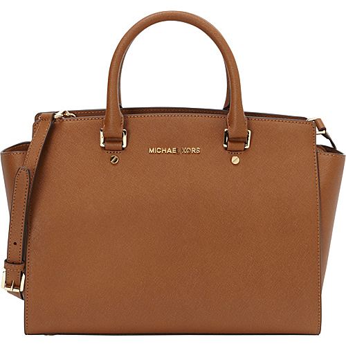 MICHAEL Michael Kors Selma Large Top Zip Satchel Handbag Luggage - MICHAEL Michael Kors Designer Handbags