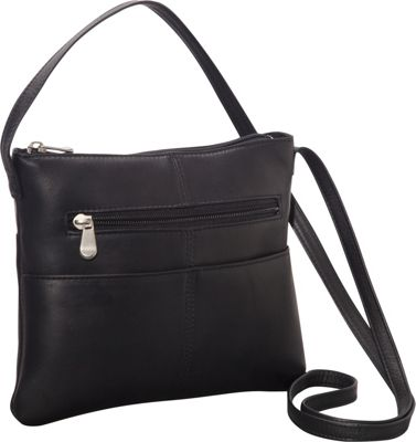 Le Donne Leather Three Slip Crossbody Black - Le Donne Leather Leather Handbags