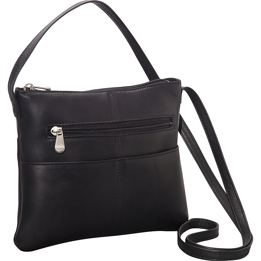 Le Donne Leather Three Slip Crossbody Black - Le Donne Leather Leather Handbags - Handbags, Leather Handbags