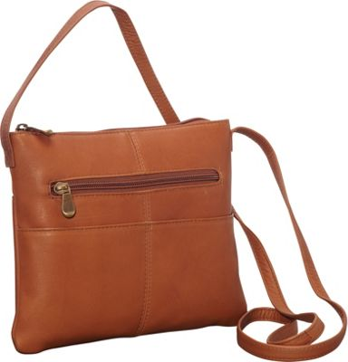 Le Donne Leather Three Slip Crossbody Tan - Le Donne Leather Leather Handbags