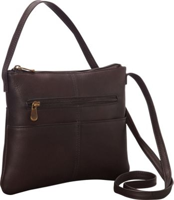 Le Donne Leather Three Slip Crossbody Cafe - Le Donne Leather Leather Handbags