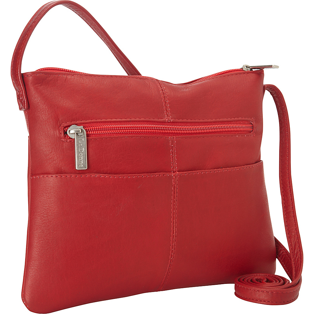 Le Donne Leather Three Slip Crossbody Red - Le Donne Leather Leather Handbags - Handbags, Leather Handbags