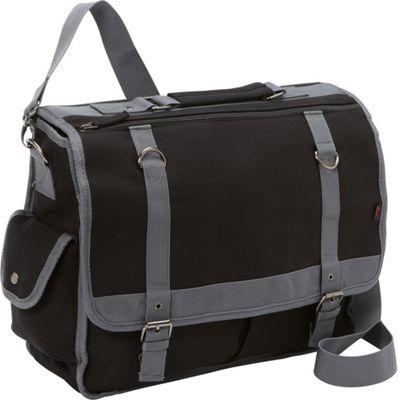 Bellino Expresso Canvas Laptop Messenger Black - Bellino Messenger Bags