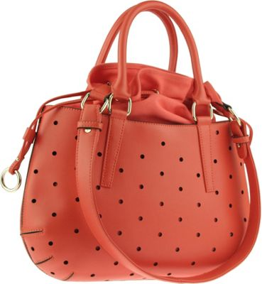 Buxton Gabriella Drawstring Orange (OR) - Buxton Leather Handbags