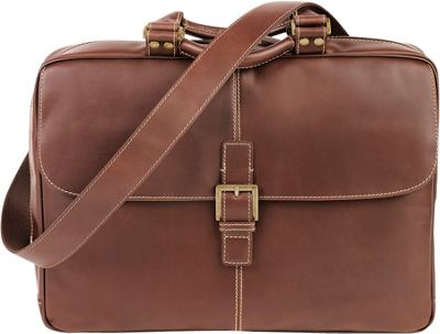 Boconi Bryant Laptop Analyst Bag Antiqued Mahogany with Houndstooth - Boconi Non-Wheeled Business Cases