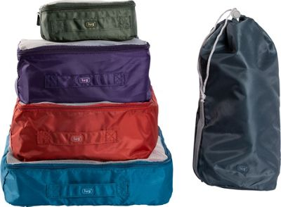 Lug Cargo 5-Piece Packing Kit Assorted Colors - Lug Travel Organizers