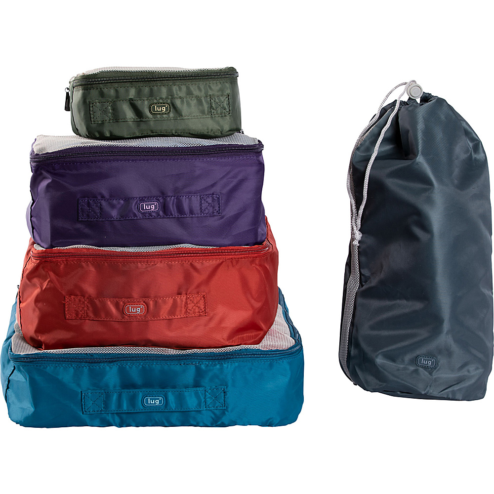 Lug Cargo 5 Piece Packing Kit Assorted Colors Lug Travel Organizers
