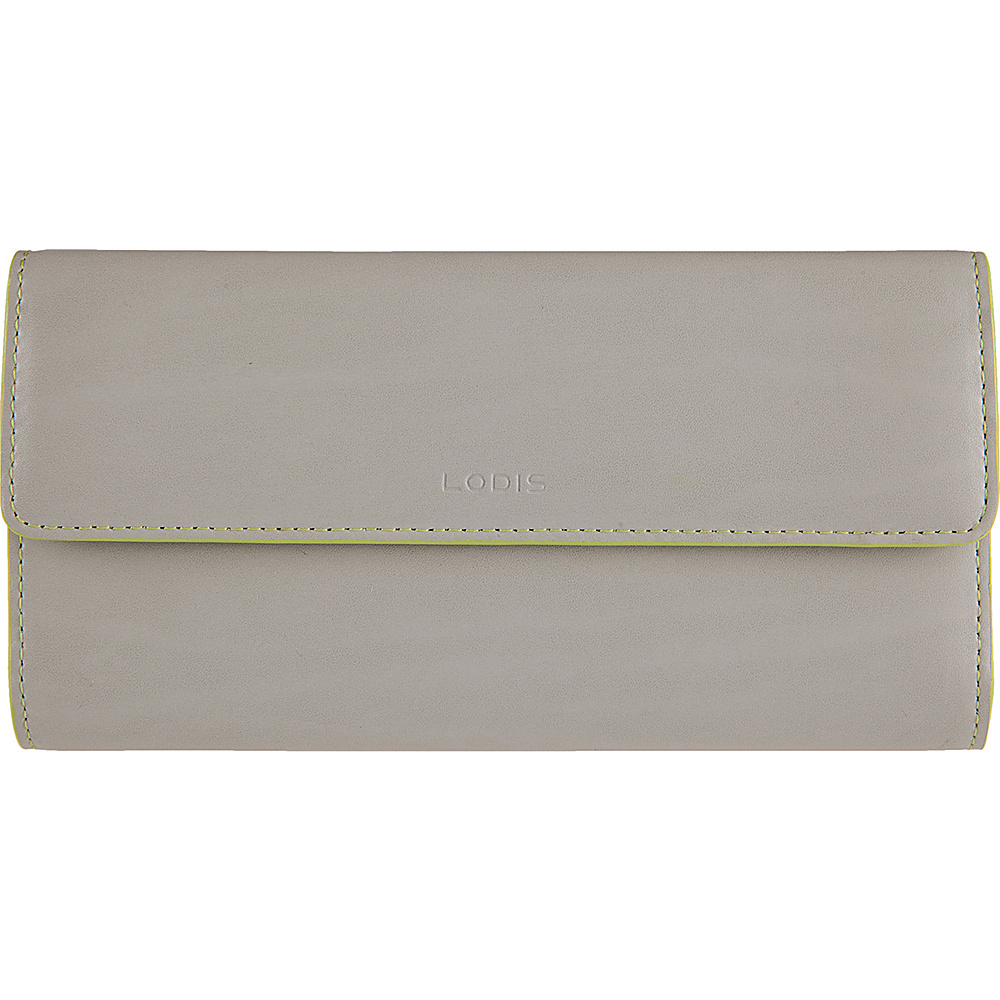 Lodis Audrey Checkbook Clutch Wallet - Fashion Colors Dove/Lime - Lodis Womens Wallets - Women's SLG, Women's Wallets