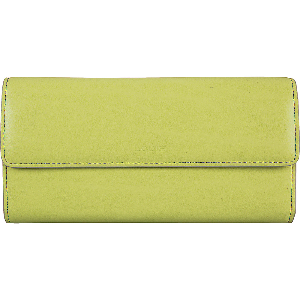 Lodis Audrey Checkbook Clutch Wallet - Fashion Colors Lime/Dove - Lodis Womens Wallets - Women's SLG, Women's Wallets