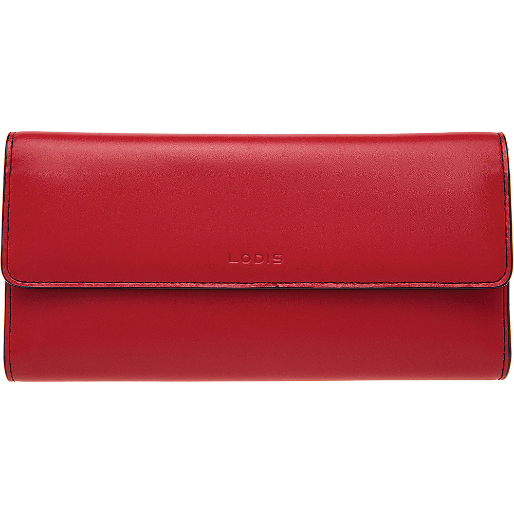 Lodis Audrey RFID Checkbook Clutch Wallet New Red - Lodis Womens Wallets - Women's SLG, Women's Wallets