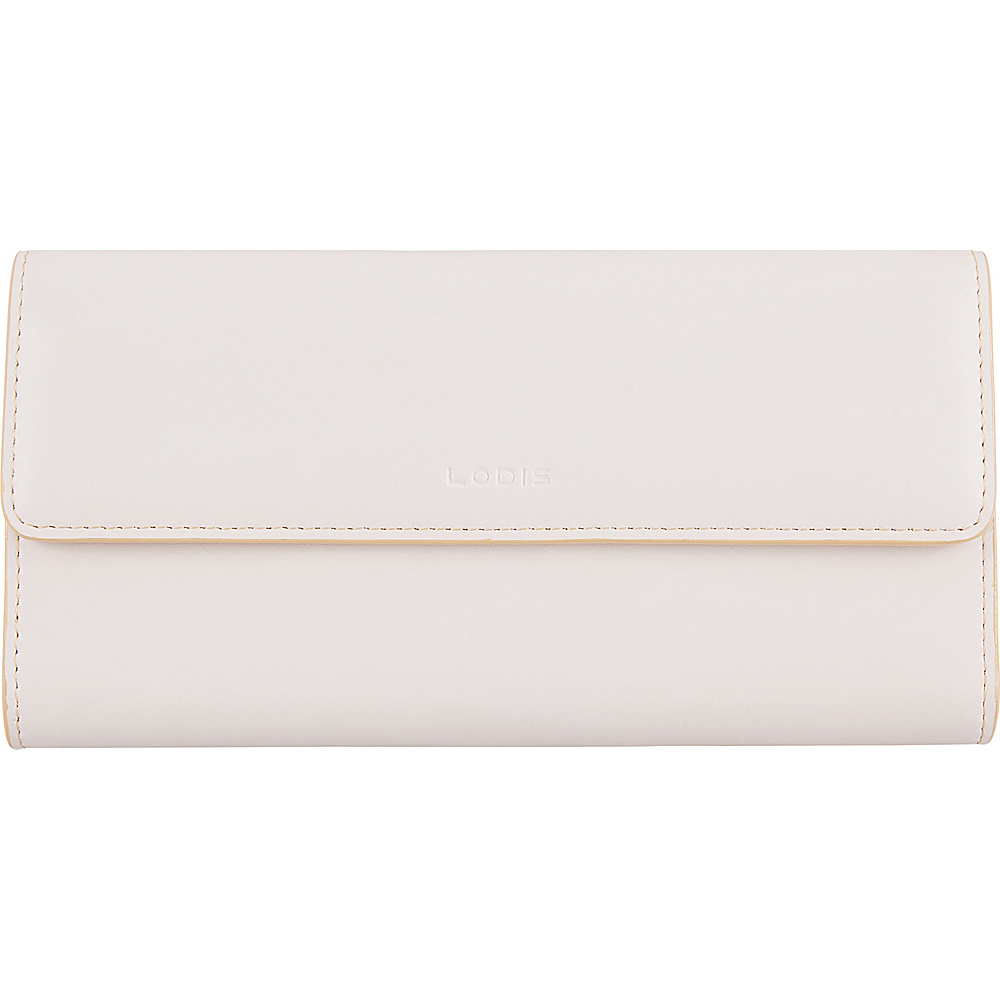 Lodis Audrey RFID Checkbook Clutch Wallet Cream/Natural - Lodis Womens Wallets - Women's SLG, Women's Wallets