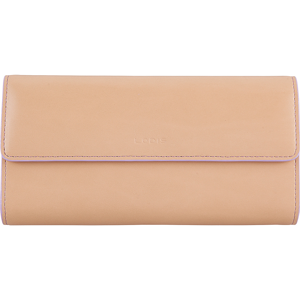 Lodis Audrey RFID Checkbook Clutch Wallet Natural/Lavender - Lodis Womens Wallets - Women's SLG, Women's Wallets