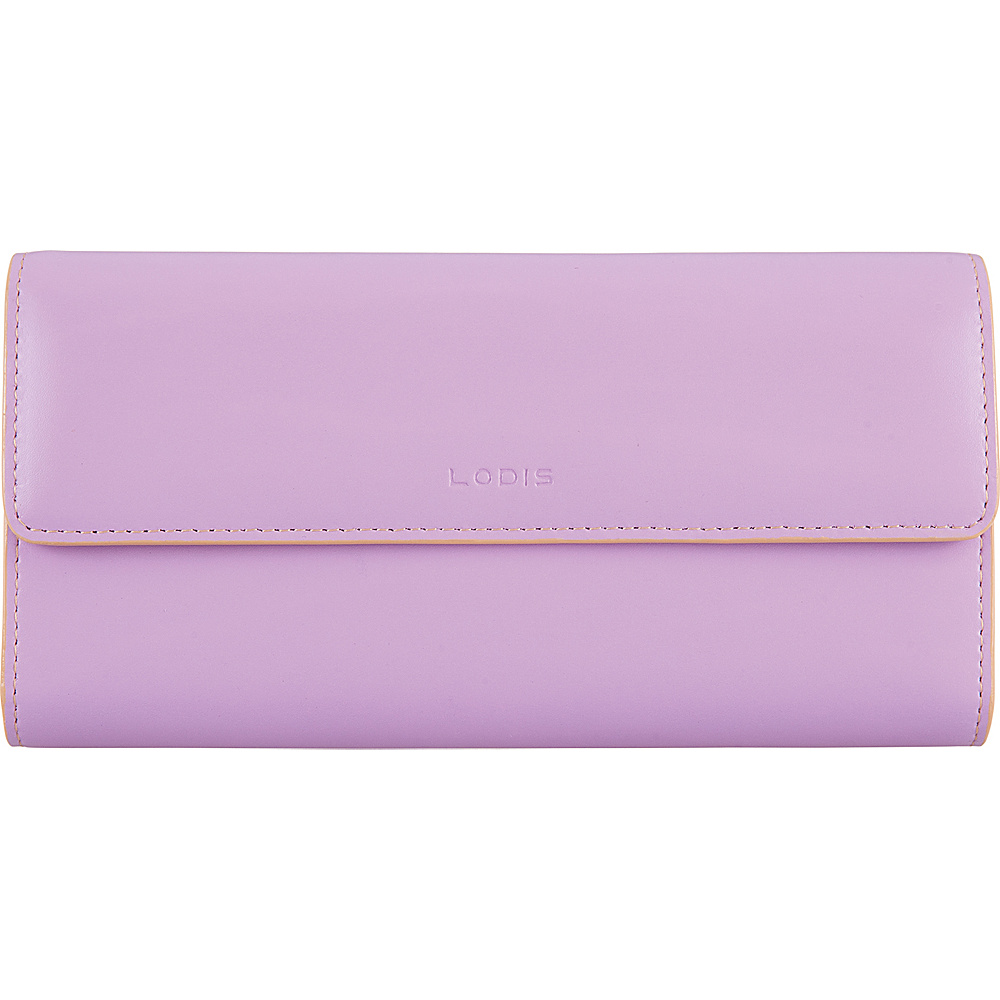 Lodis Audrey RFID Checkbook Clutch Wallet Lavender/Natual - Lodis Womens Wallets - Women's SLG, Women's Wallets