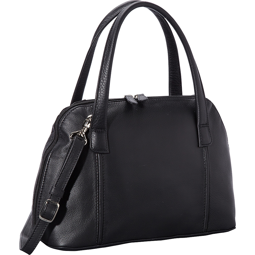 Derek Alexander Double Handle Zip Around Black - Derek Alexander Leather Handbags - Handbags, Leather Handbags