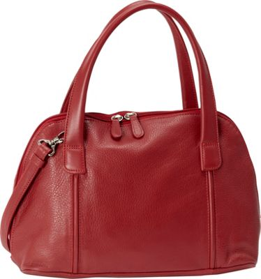 Derek Alexander Double Handle Zip Around Red - Derek Alexander Leather Handbags