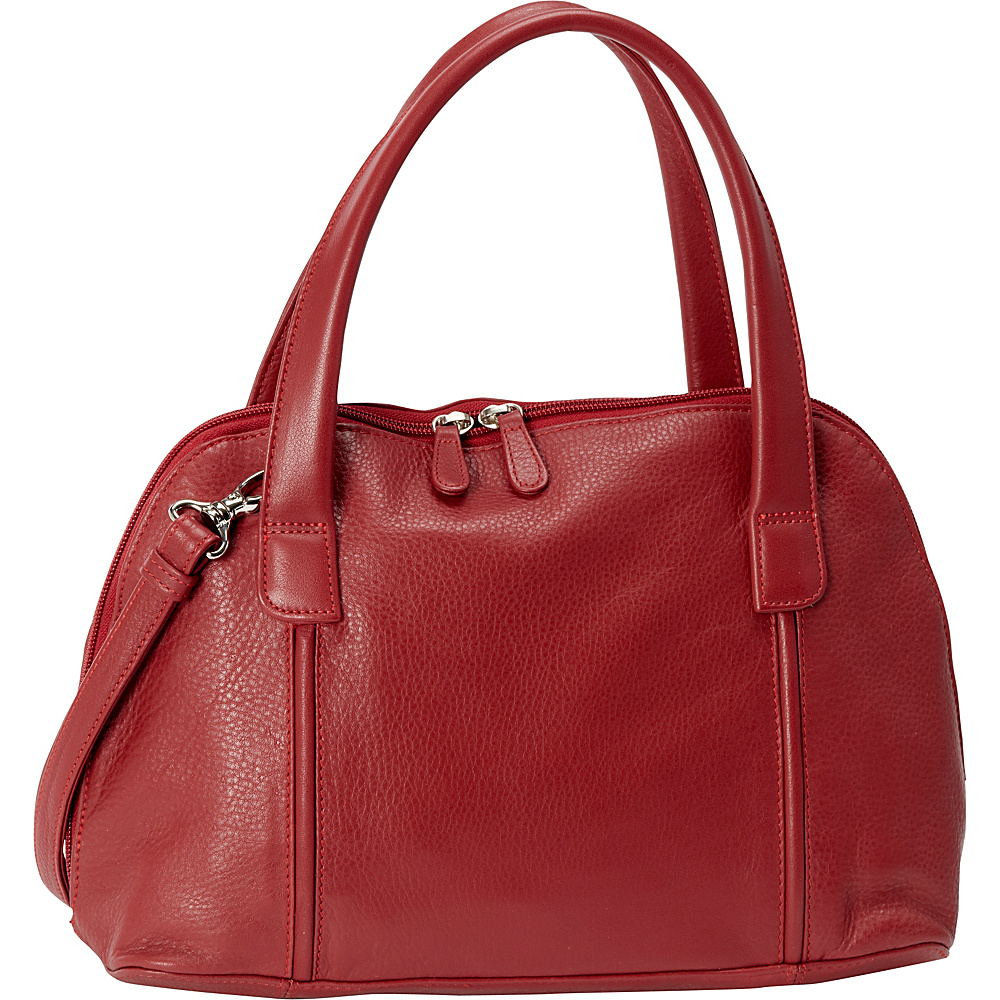 Derek Alexander Double Handle Zip Around Red Derek Alexander Leather Handbags